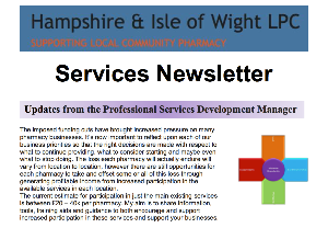 Services Newsletter published